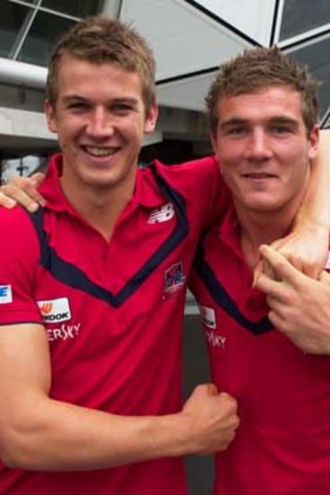 Teammates Jack Trengrove and Luke Tapscott.