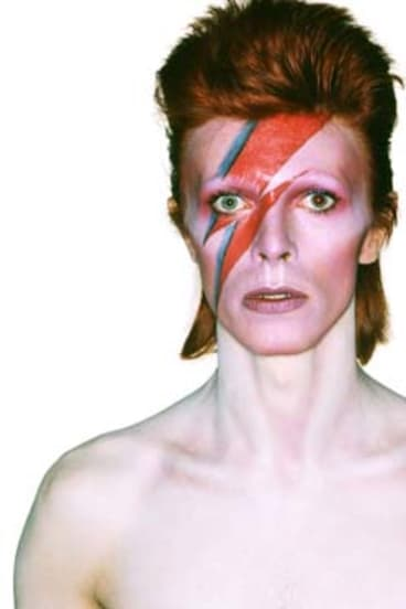 Praising the astronaut's rendition: David Bowie pictured from <em>Aladdin Sane</em> album cover.