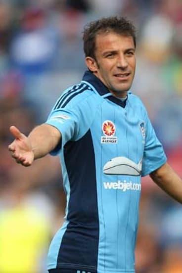 Master … Sydney FC's Alessandro Del Piero.