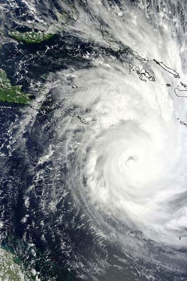 Cyclone Yasi hurtles towards the Queensland coast in 2011.