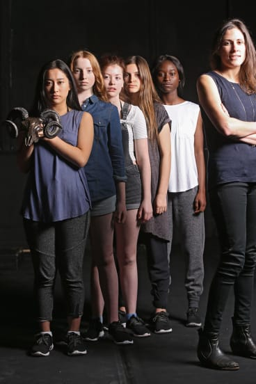 Adena Jacobs (right) with the cast of <i>The Bacchae</i>.
