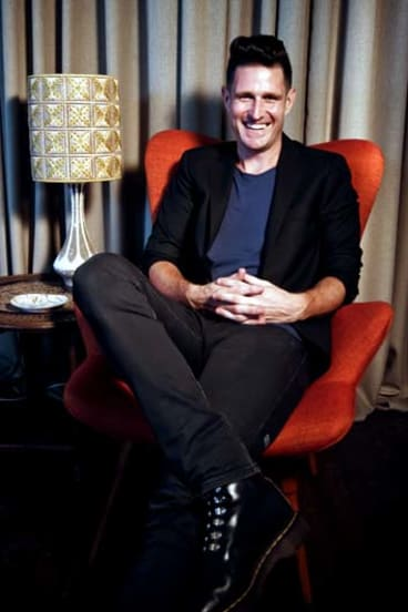 Happy camper: Despite a run of bad luck, Wil Anderson manages to find humour in misfortune.