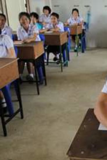 Generation next … students learn English at the  Mae Tao Clinic's Children's Development Centre.