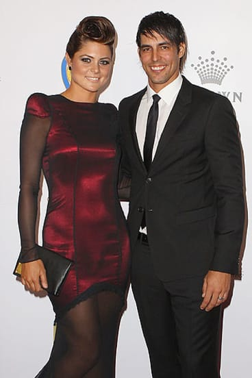 Mitchell Johnson and Jessica Bratich Johnson, pictured here at the 2012 Allan Border Medal Awards in February, welcome a new baby girl.