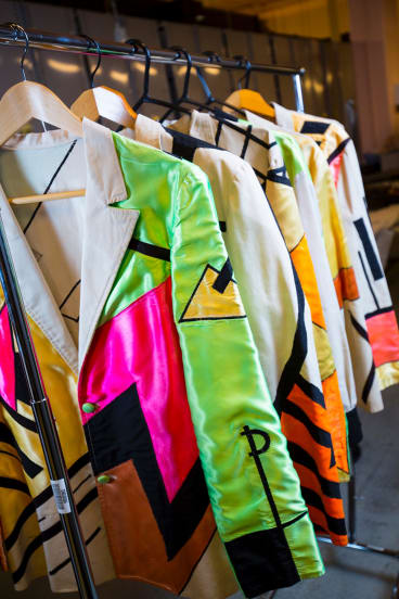 Costumes worn by Split Enz for the True Colours tour, 1980.