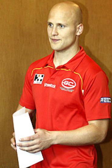 Gary Ablett at the announcement of his deal with the Gold Coast Suns.