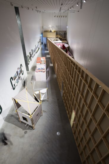The Occupied exhibition's main gallery.