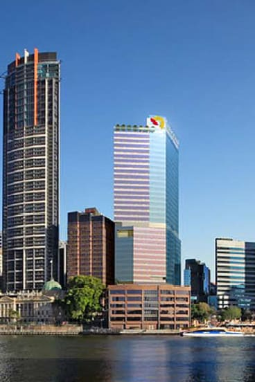 Grocon's proposed new building, with Suncorp livery.