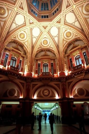 The Victorian conductor married his wife, Joanne, in the former 19th century banking chamber at 333 Collins Street.