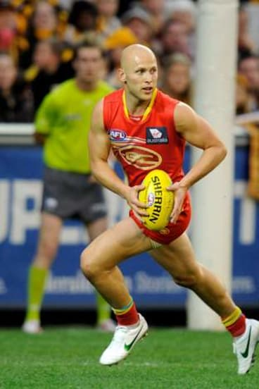 The Gold Coast Sun's Gary Ablett in action at the MCG.