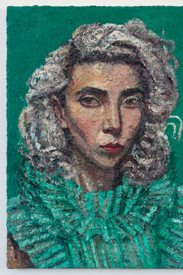Yvette Coppersmith, <i>Self-portrait as St Vincent Wearing Cara's Dress</i>, 2016-18. Reproduced courtesy of the artist.