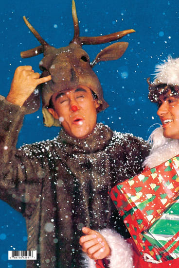 wham artwork from the last christmas single andrew ridgeley left and george - Wham Christmas