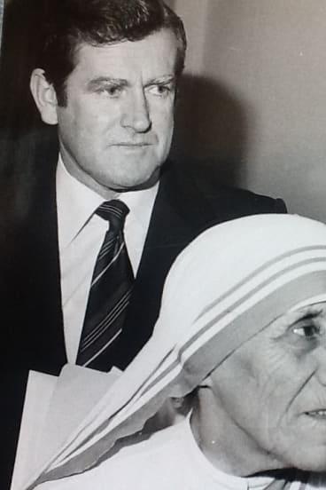 Alan Gill with Mother Teresa.