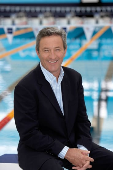 Nine presenter Ken Sutcliffe hosted many an Olympic and Commonwealth event.
