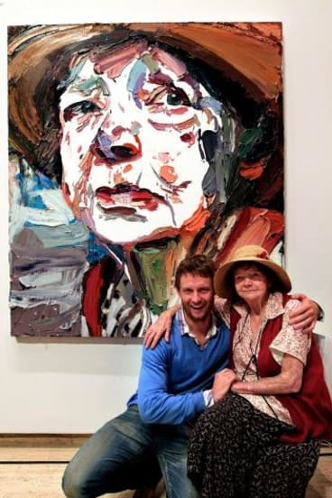 2011 Archibald Prize winner Ben Quilty has loaned his winning portrait of Margaret Olley to the Art Gallery of NSW.
