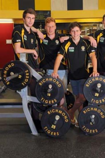 New cubs: Liam McBean, Nick Vlastuin, Matthew McDonough and Kamdyn McIntosh.