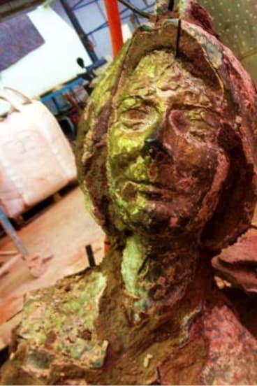Bust by Sculptor Peter Nicholson.