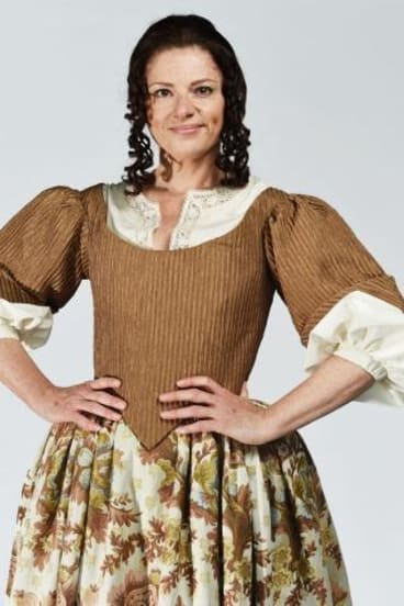 The chaperone: Julia Zemiro padded out in costume for <i>Cyrano de Bergerac</i>.