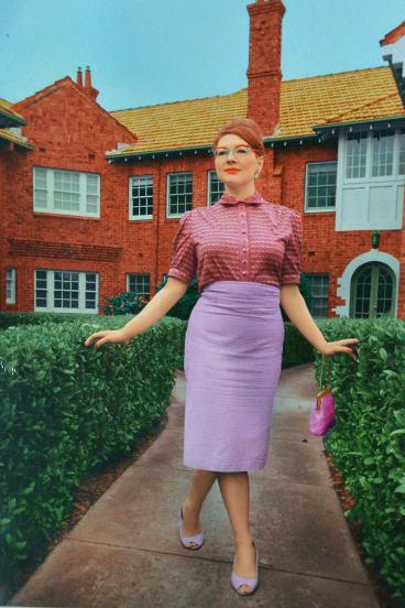 Purple patch: An Elvie Hill design.