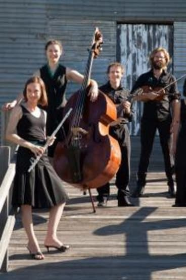 The Griffyn Ensemble (from left) Kiri Sollis (flute), Holly Downes (double bass), Michael Sollis (mandolin), Chris Stone (violin), Laura Tanata (harp) and Susan Ellis (singer).