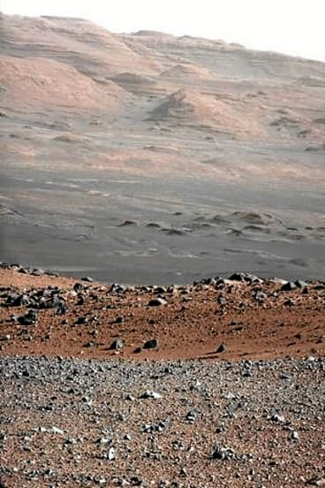 Mars' Mount Sharp is pictured in this photo taken by the Curiosity rover.