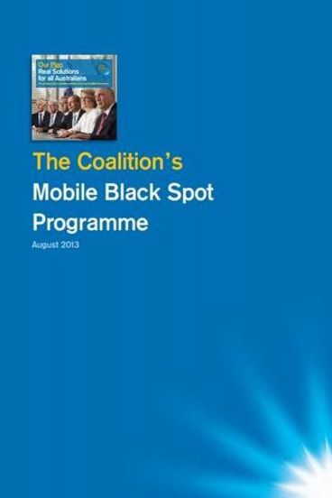 One of Coalition's pre-election policy papers.