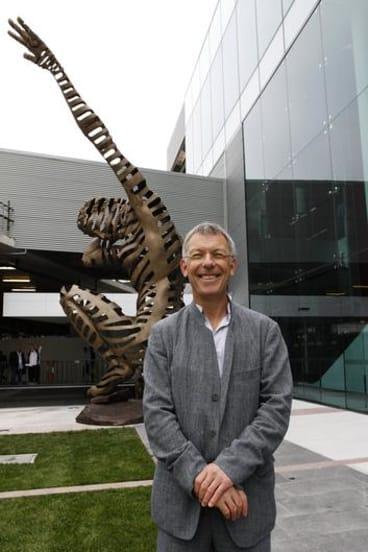 """Artist: Andrew Rogers (pictured) Title of the work: """"Perception and Reality 1"""" Details: 7.5m cast bronze sculpture - Largest in Australia."""