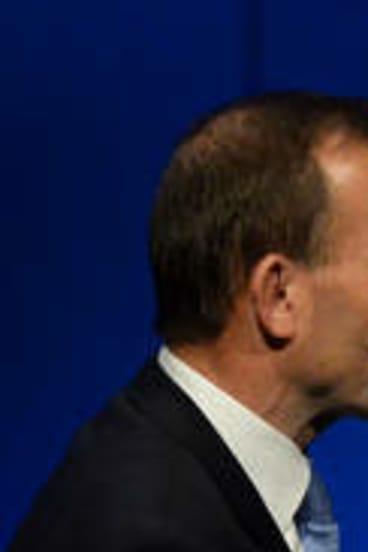 Promises: Liberal Leader Tony Abbott and Victorian Premier Dr Denis Napthine.