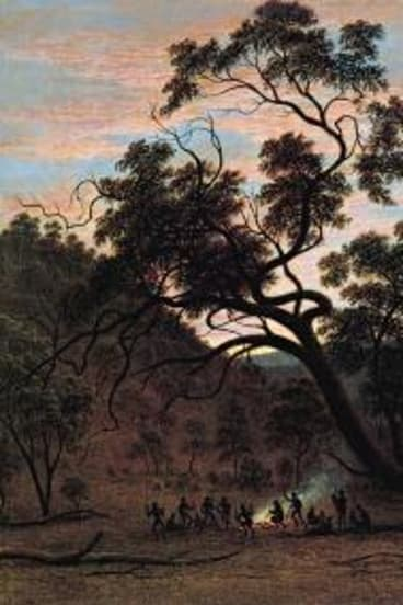 Haunting and moving: <i>A Corroboree of Natives in Mills Plain</i> by John Glover, 1832.