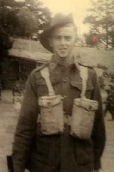 Jack Jones in his army days.