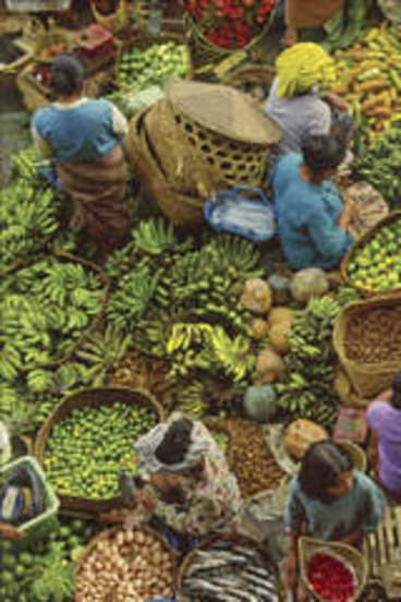 Vegetarian's paradise … fresh produce in the local market.