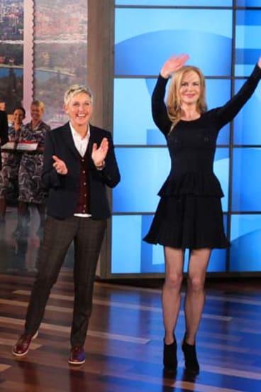 Ellen with surprise guest, Nicole Kidman.
