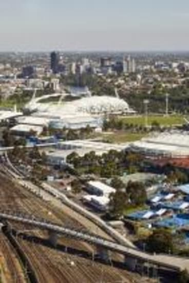 Look at me: Margaret Court Arena's new terracotta roof is easy to spot.