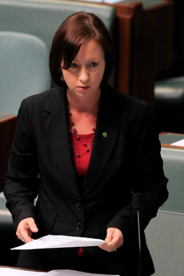 Yvette D'Ath makes a statement to the House of Representatives in May 2012.