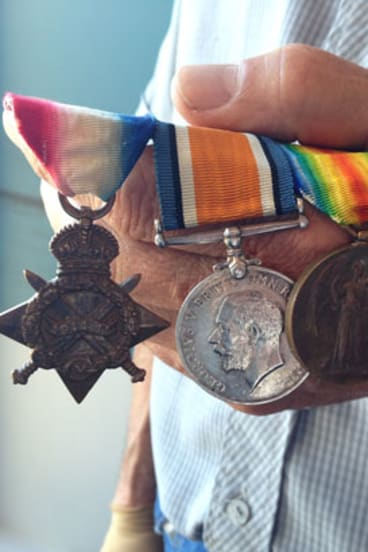Gordon Naley's WWI medals.