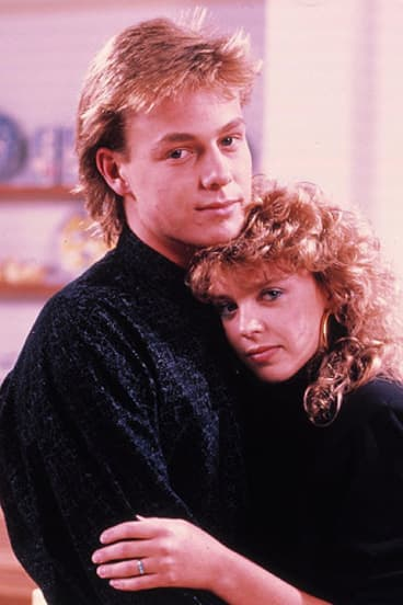 Donovan with Kylie Minogue during their <i>Neighbours</i> days.