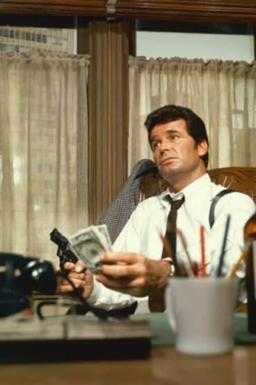 James Garner as Jim Rockford in <i>The Rockford Files</i>.
