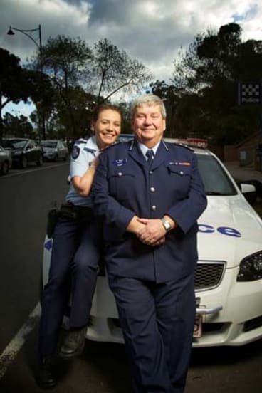 Inspector Kim West with daughter Detective Senior Constable Alexandra West.