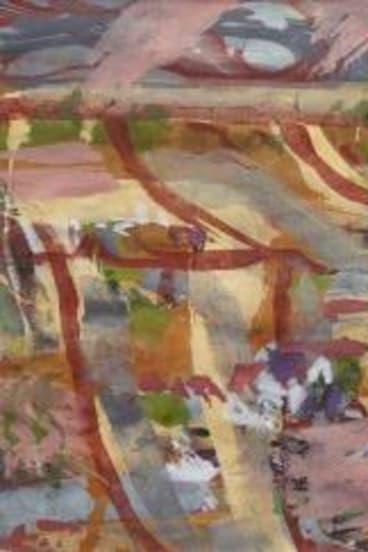 Implicit grandeur: Joe Furlonger. <i>Goondiwindi Study X</i> 2013. Pastel, gouache on paper. Private collection. © Joe Furlonger.