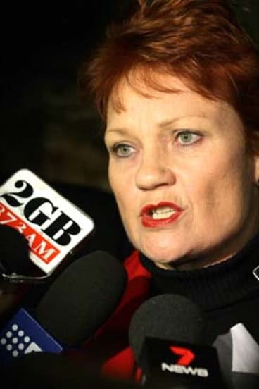 Pauline Hanson who narrowly missed winning a seat in the NSW Upper House.