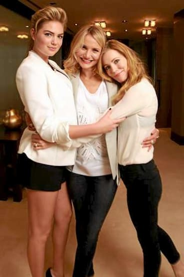 Other women ... Leslie Mann, Cameron Diaz and Kate Upton in Sydney.