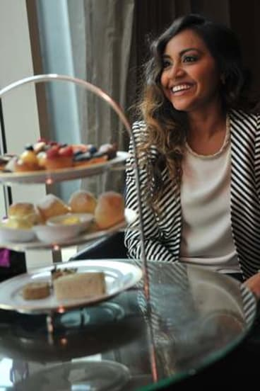 Whole other level: Jessica Mauboy exercises her sweet tooth.