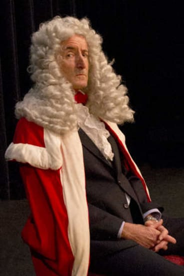 Peter Dark stars as the Judge in <i>A Tale of Two Cities</i>.