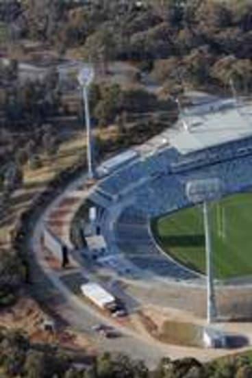 Canberra Stadium.