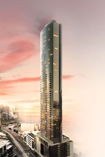 Going up on Southbank: Prima Pearl will feature an oval shape to deflect wind pressure.