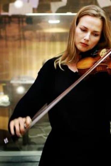 Satu Vanska of the Australian Chamber Orchestra plays a Stradivarius.