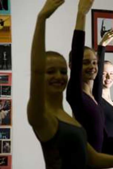 Canberra Dance Development Centre director Jackie Hallahan, centre.