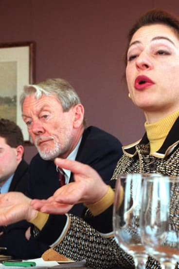 Sophie Mirabella with Colin Howard at a conference in 2005.