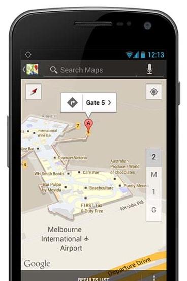 Google's indoor map of Melbourne Airport.