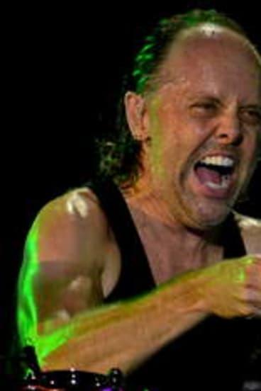 Lars Ulrich on drums.